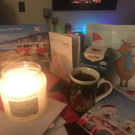 a cosy christmas card scene