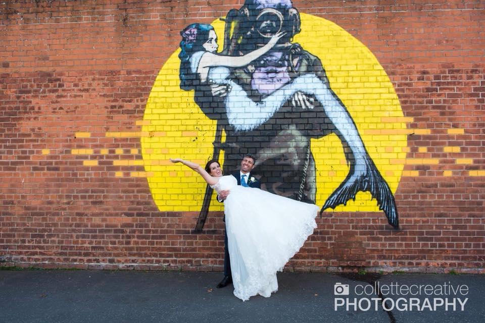 Muhutin lifting up on our wedding day